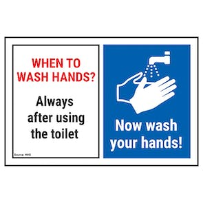 When To Wash Hands? Always After... Now Wash Your Hands!