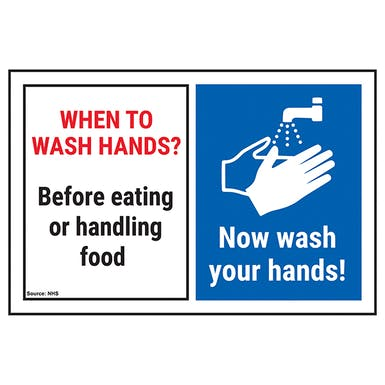 When To Wash Hands? Before Eating...