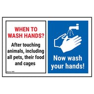 When To Wash Hands? After Touching...
