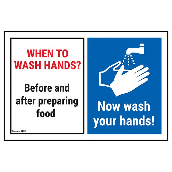 When To Wash Hands? Before and After Preparing...Now Wash Hands!