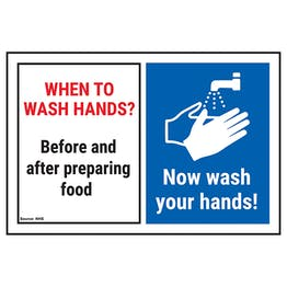 When To Wash Hands? Be...Preparing...Now Wash Hands!