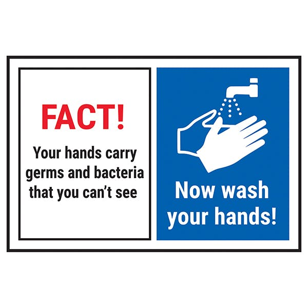 FACT! Your Hands Carry Germs...