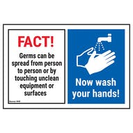 FACT! Germs Can Be Spread From...