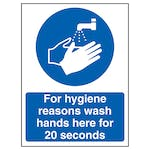 Wash Hands For 20 Seconds