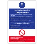 Important Notice Deep Freezers - Portrait