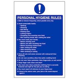 Personal Hygiene Rules - Portrait