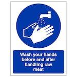 Wash Your Hands - Raw Meat - Portrait