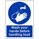 Wash Your Hands Before Handling Food - Portrait