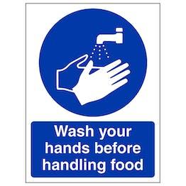 Wash Your Hands Before Handling Food - Portrait