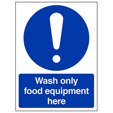 Wash Only Equipment Here - Portrait