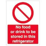 No Food Or Drink In Refrigerator - Portrait