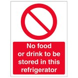 No Food Or Drink In Refrigerator - Portrait