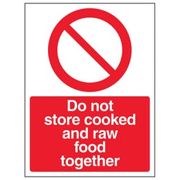 Do Not Store Raw And Cooked Food Together - Portrait