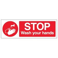 Stop Wash Your Hands - Landscape