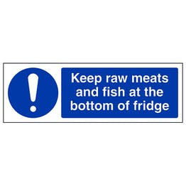 Keep Raw Meats At Bottom Of Fridge - Landscape