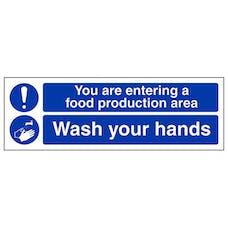 Food Production Area - Wash Your Hands - Landscape