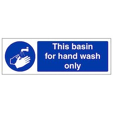 This Basin For Hand Wash Only - Landscape