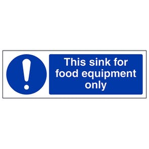 This Sink For Equipment Wash Only - Landscape