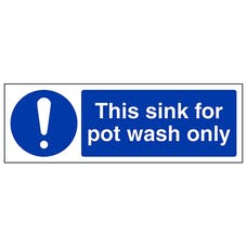 This Sink For Pot Wash Only - Landscape