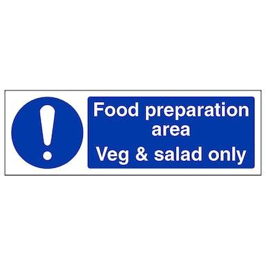 Food Preparation Area - Veg/Salad Only - Landscape