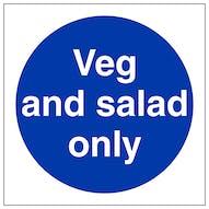 Vegetables Signs