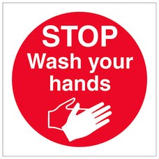 Stop Wash Your Hands - Square
