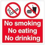 No Smoking No Eating No Drinking
