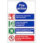 4 Point Fire Action Notice - Nearest Fire Alarm