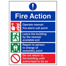 4 Point Fire Action Notice - Prohibition Safe