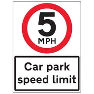 5 MPH Car Park Speed Limit