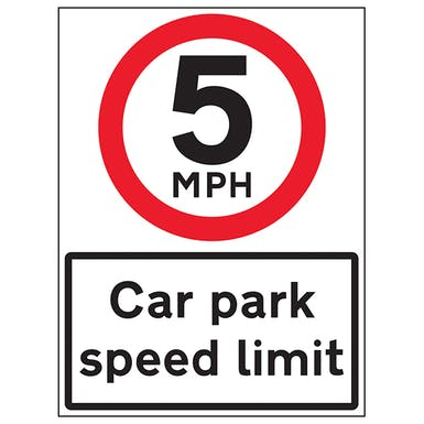 5 MPH Car Park Speed Limit