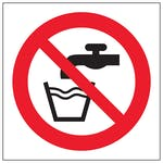 Not Drinking Water Symbol