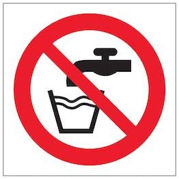 Not Drinking Water Symbol