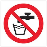 Eco-Friendly Not Drinking Water Symbol