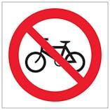 Eco-Friendly No Cycling Symbol