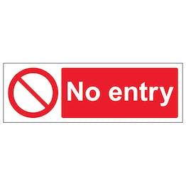 No Entry - Landscape