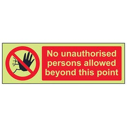 GITD No Unauthorised Persons