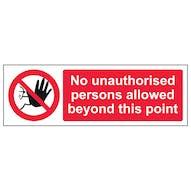 No Unauthorised Persons - Landscape