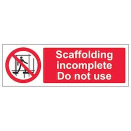 Scaffolding Incomplete - Landscape
