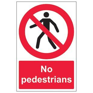 No Pedestrians - Portrait