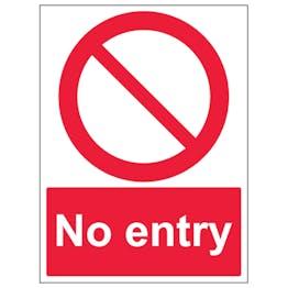 No Entry - Portrait
