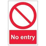 Eco-Friendly No Entry - Portrait