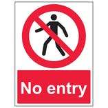 No Entry With Man - Portrait