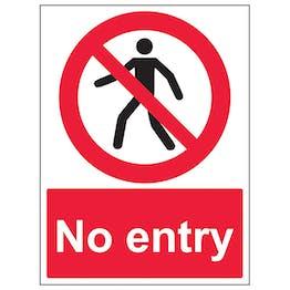 No Entry Pedestrian - Polycarbonate