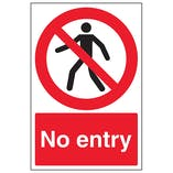 No Entry - Window Sticker