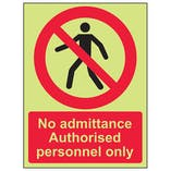 GITD No Admittance Authorised Personnel
