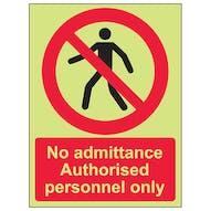 GITD No Admittance Authorised Personnel