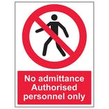 Eco-Friendly No Admittance - Authorised Personnel Only