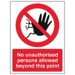 Prohibition Polycarbonate Signs