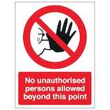 Prohibition Polycarbonate Signs